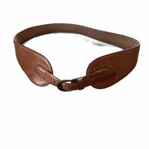 Women's Talbot's Size M Brown Leather Belt